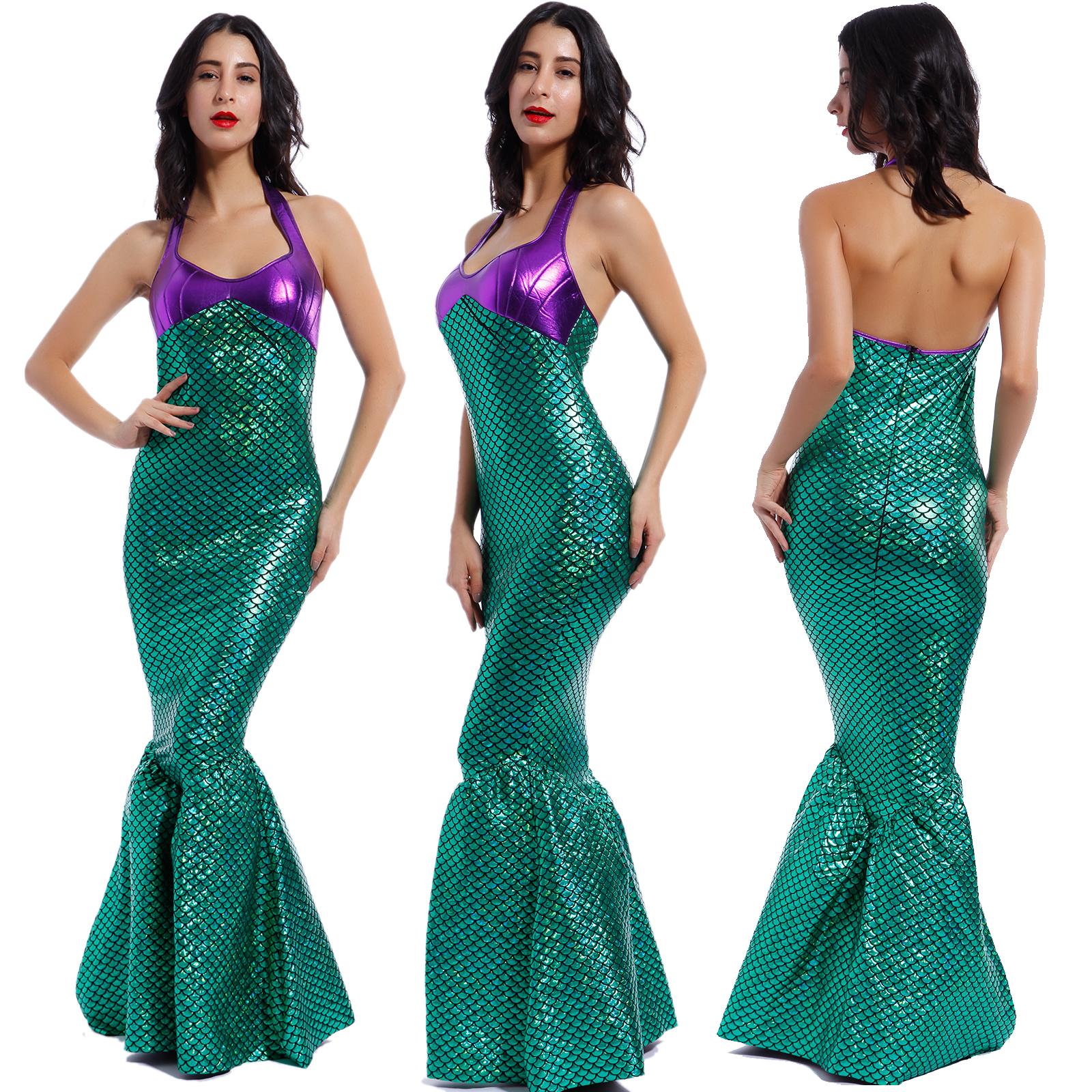 Adult Mermaid Fancy Dress Costume Women Hen Party Outfit Fairytale ...