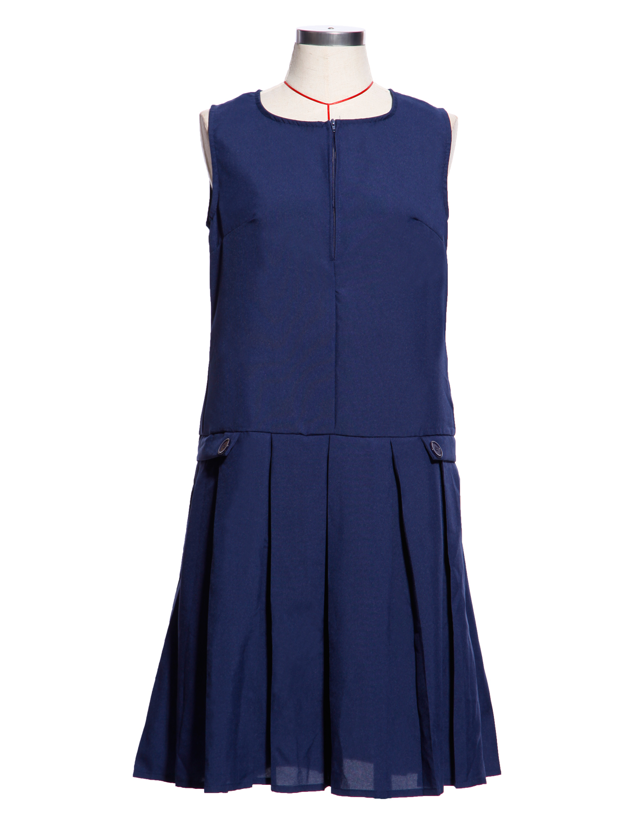 c6288d13c7 Details about Ages 13-16 Girls Kids Summer Pinafore School Pleated Dress  Uniform Grey Black