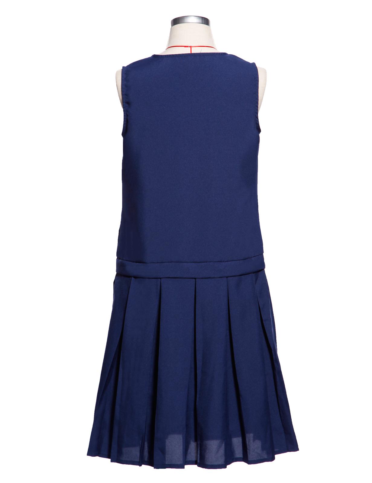 d84872a28e Ages 13-16 Girls Kids Summer Pinafore School Pleated Dress Uniform ...