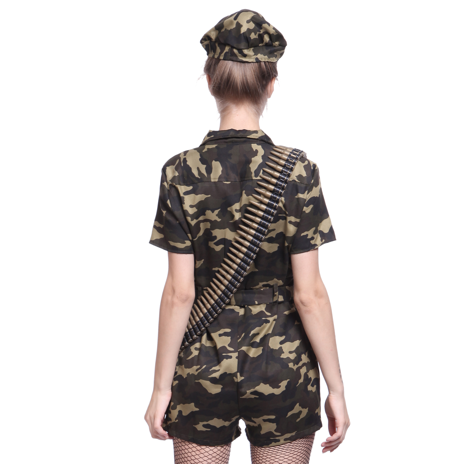 82875eaf4 Womens Sexy Army Girl Costume Camo Soldier Fancy Dress Roleplay Outfit