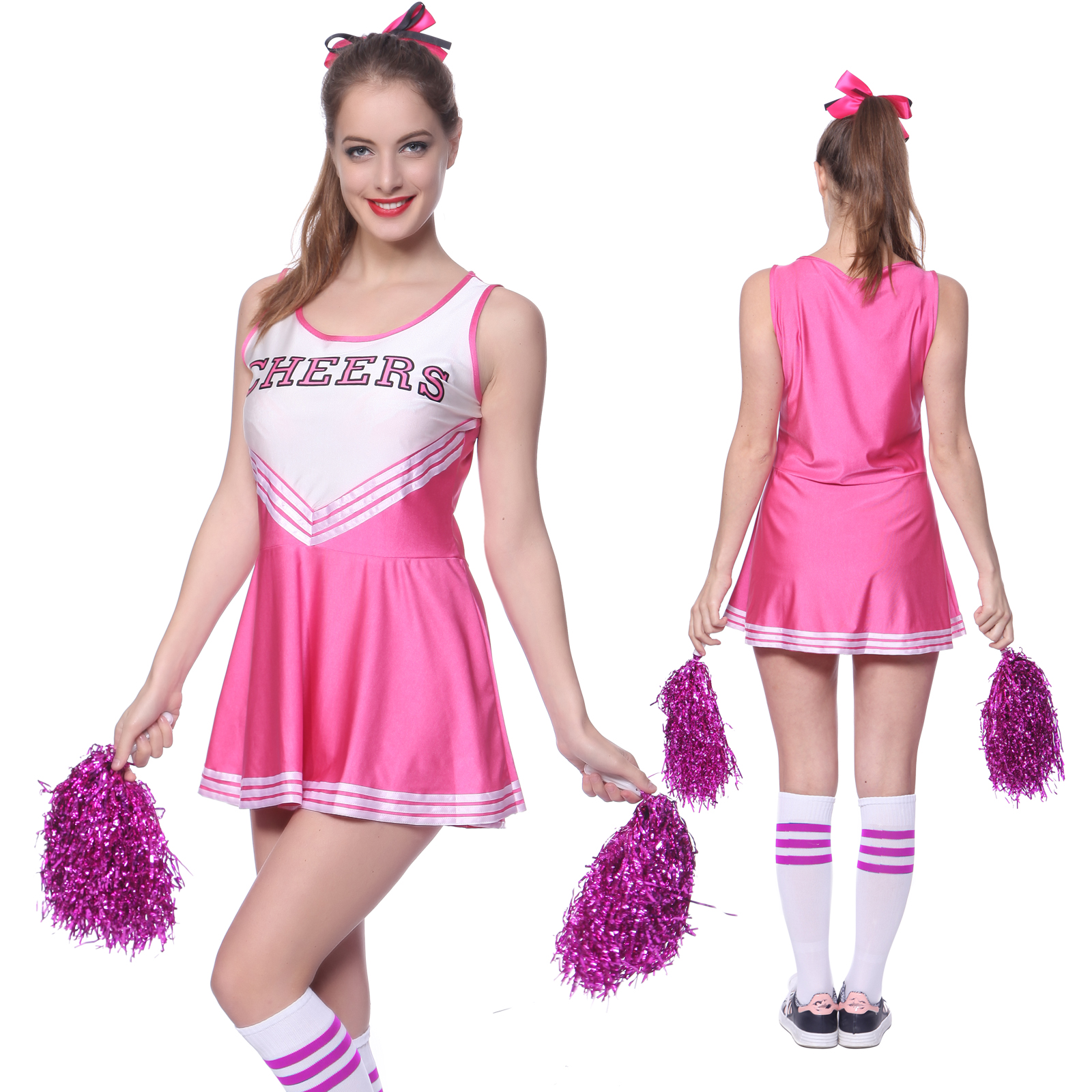 Cheerleader Fancy Dress High School Girls Sports Outfit Uniform