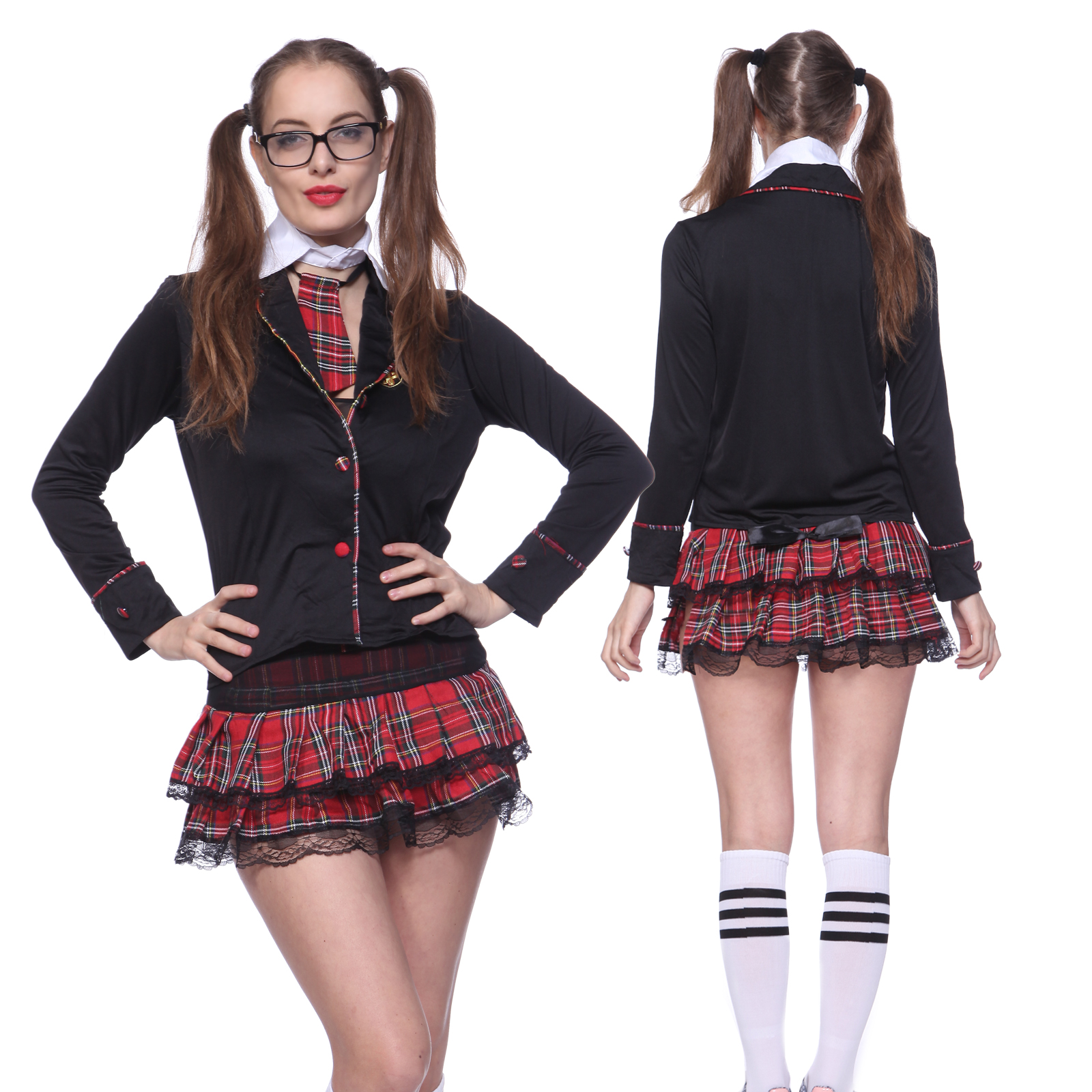 caf0ceec7 Sexy Cop Police Women Nurse School Girl Costume Role Play Fancy Dress Outfit