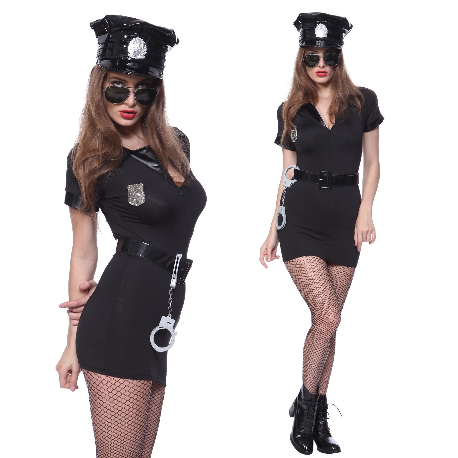 Plastic silver or gold Policeman Policewoman Handcuffs Fancy Dress