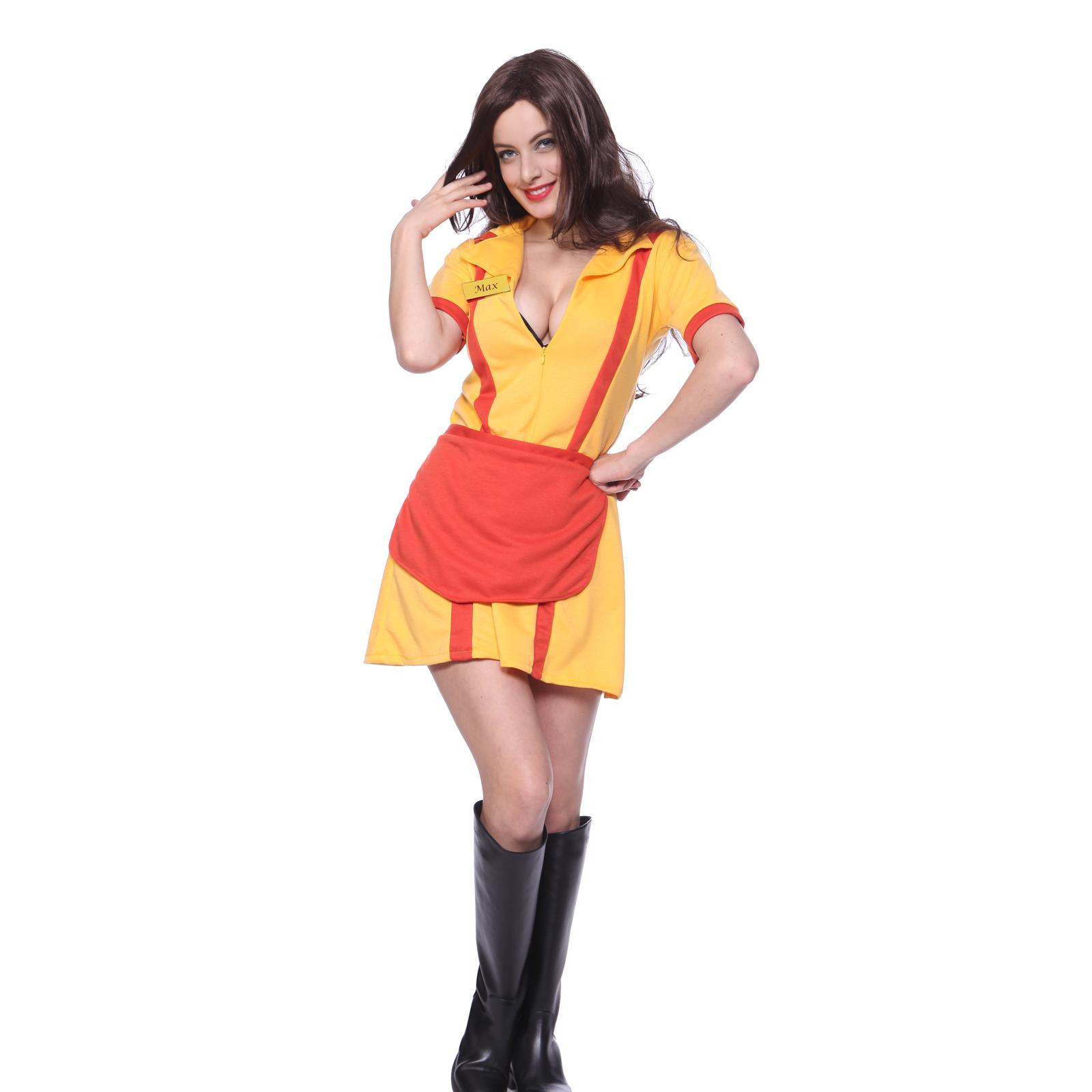 Sexy 2 Broke Girls Max Caroline Role Play Hen Party Fancy Dress