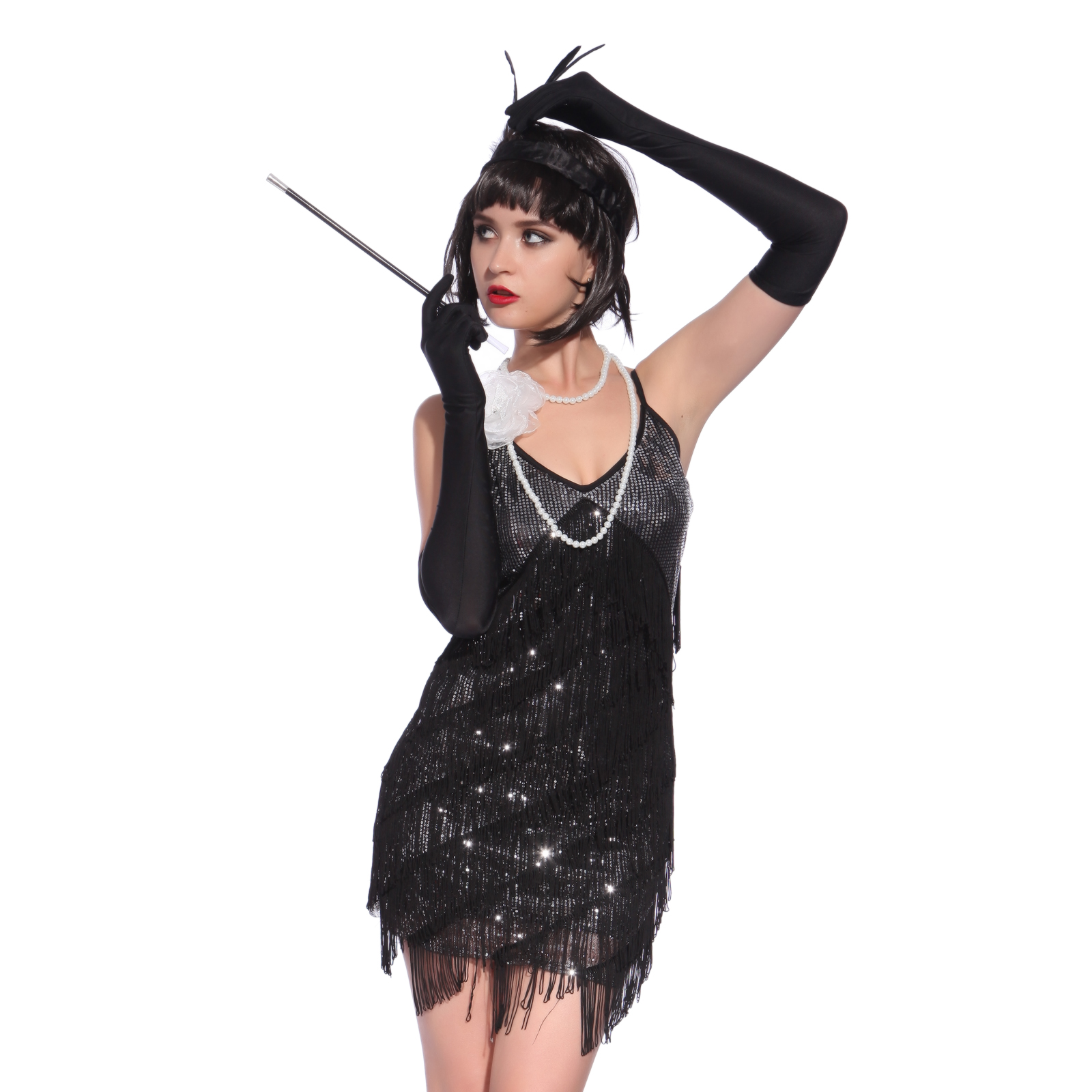 f5dd335120d1 Ladies Flapper Costume 20s 30s Charleston Great Gatsby Jazz Fancy Dress  Outfit | eBay