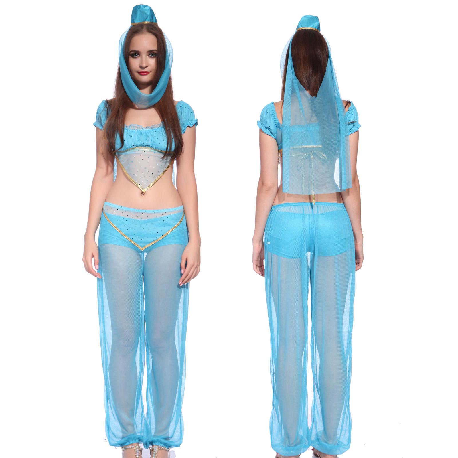 Ladies jasmine arabian princess belly dancer fancy dress costume item specifics solutioingenieria Image collections