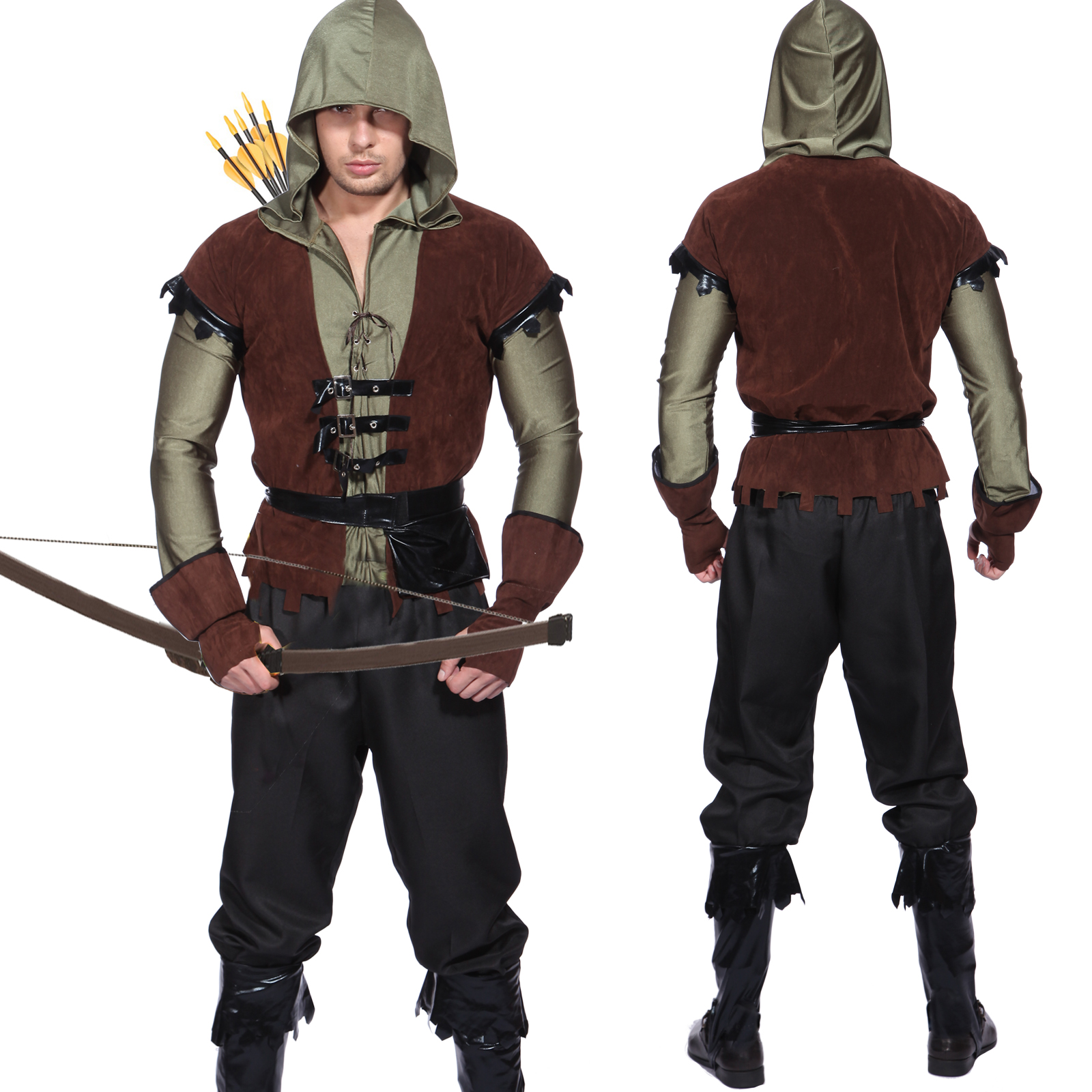Mens Robin Hood Medieval Archer Prince Of Thieves Peter ...
