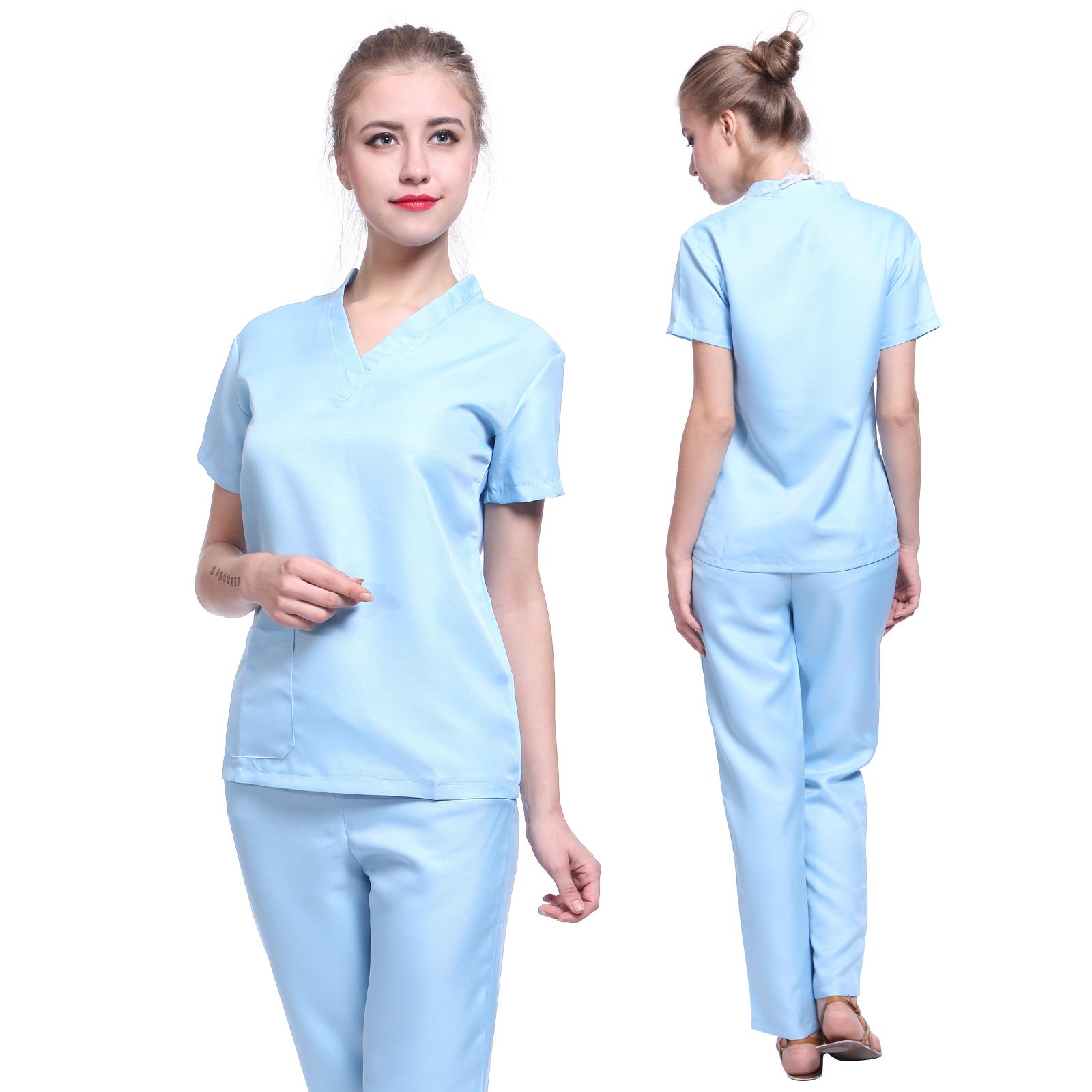 6af0bcc1b61 Details about Womens ER Scrubs Doctor Surgeon Hospital Nurse Uniform Fancy  Dress Costume