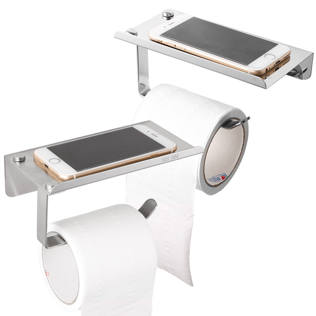 Stainless Steel Wall Mounted Bathroom Toilet Paper Holder