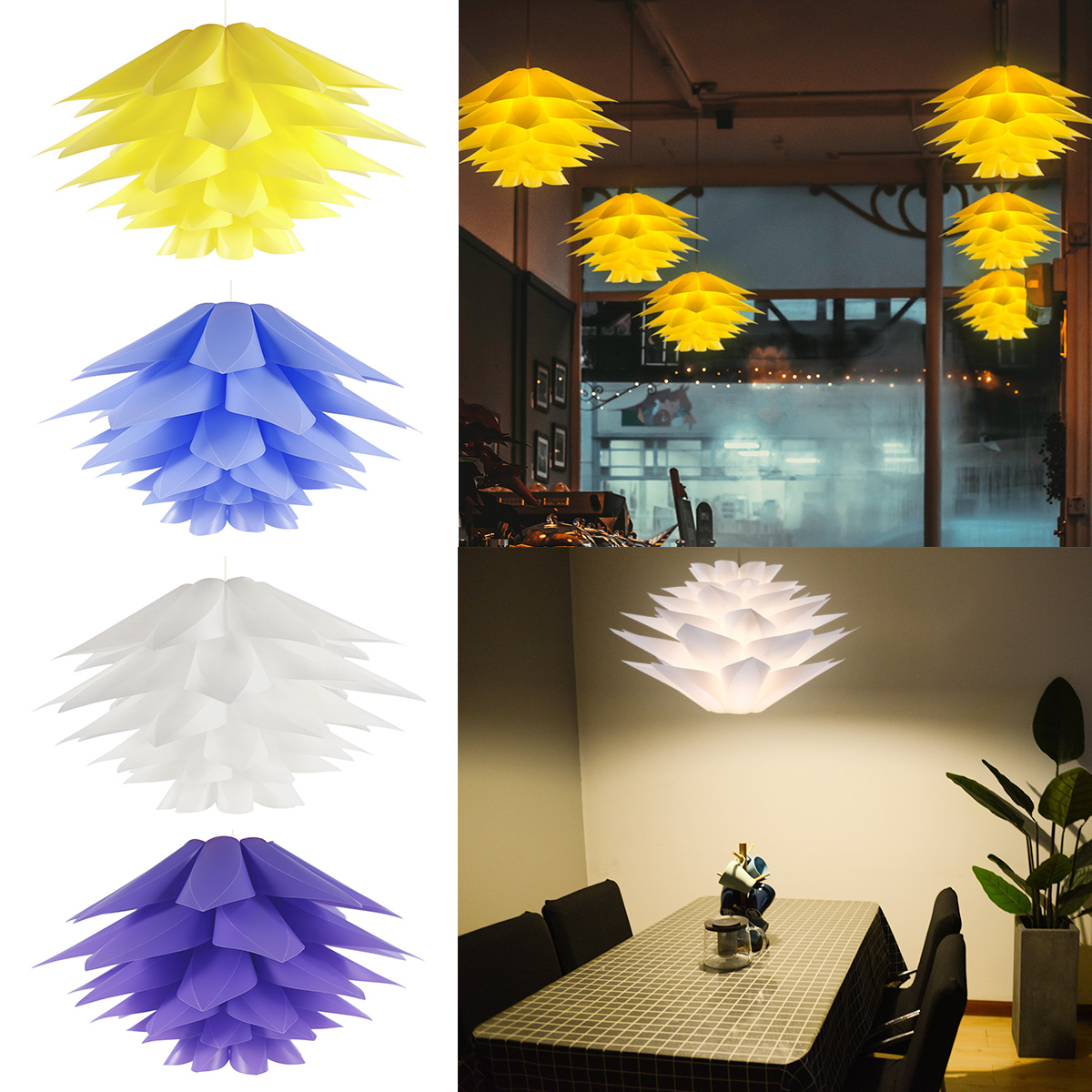Diy Puzzle Lampshade Ceiling Mount Lotus Flower Jigsaw Iq Lamp