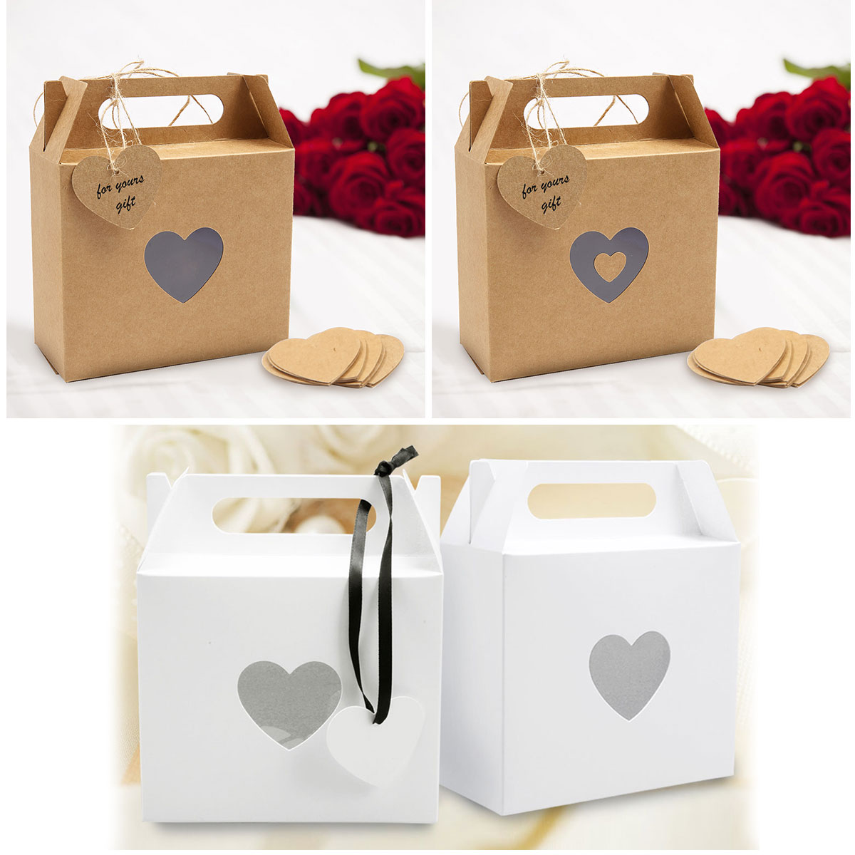 Details about  /50 Small White Paper Gift Bags 60 Free Stickers Wedding Favours Party bulk
