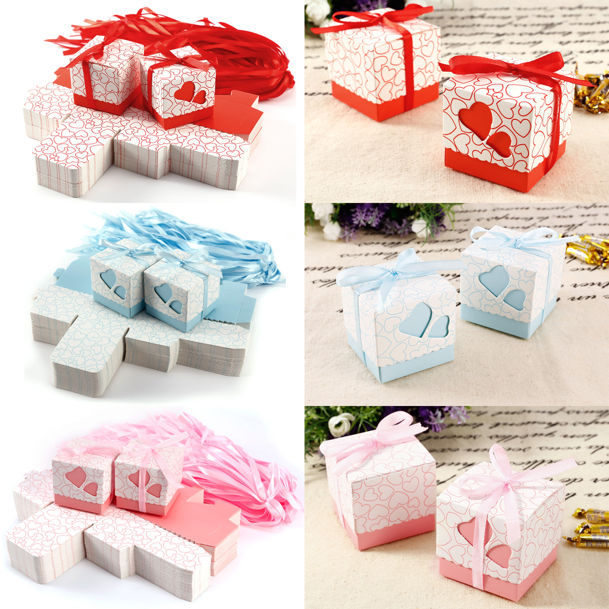 Wedding Favours Home, Furniture & DIY 100pcs Chocolate Sweets Cup Cake Wedding Favour Gift Boxes 5x5cm
