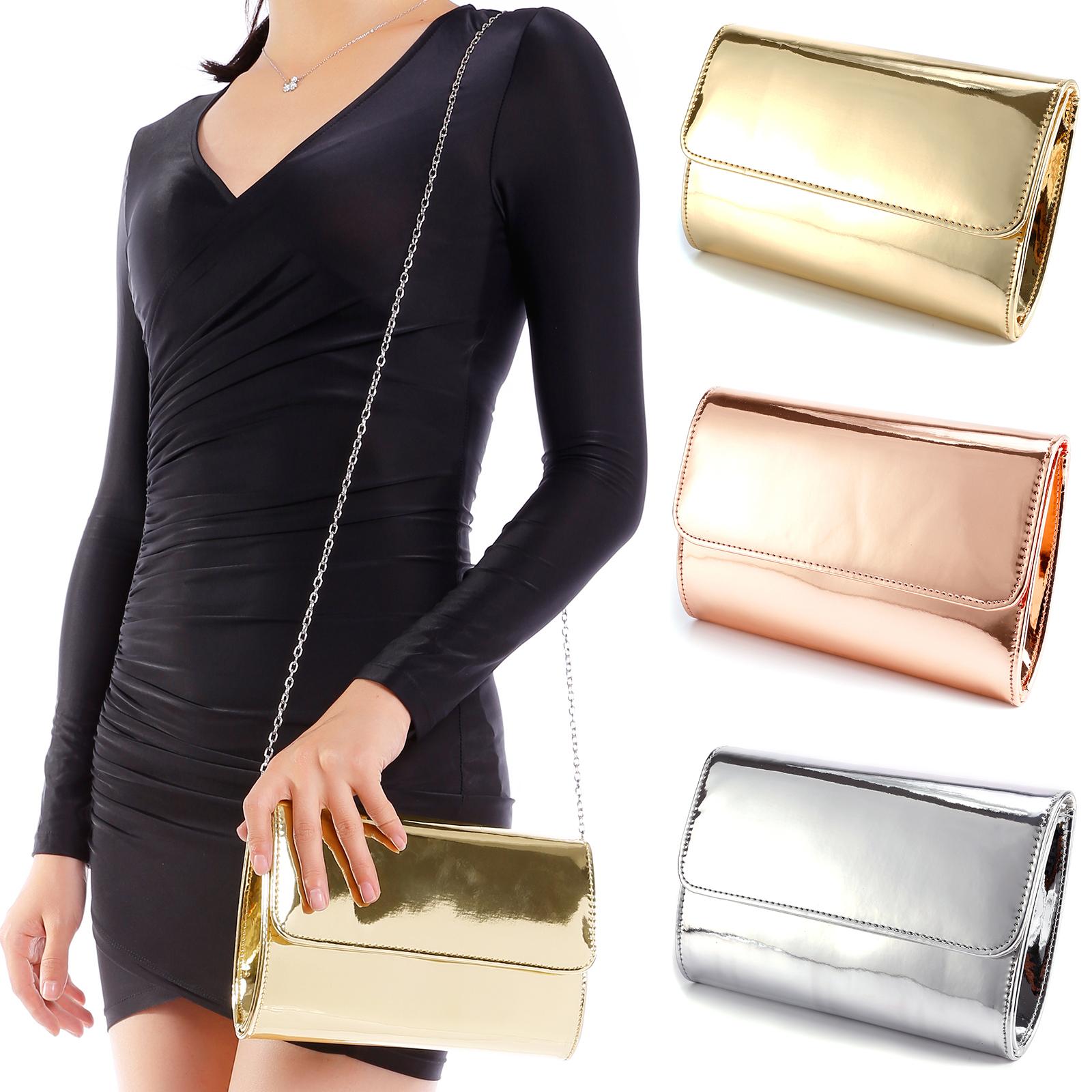 Ladies Glitter Box Hard Case Clutch Wedding Bride Evening Party Prom Night bag