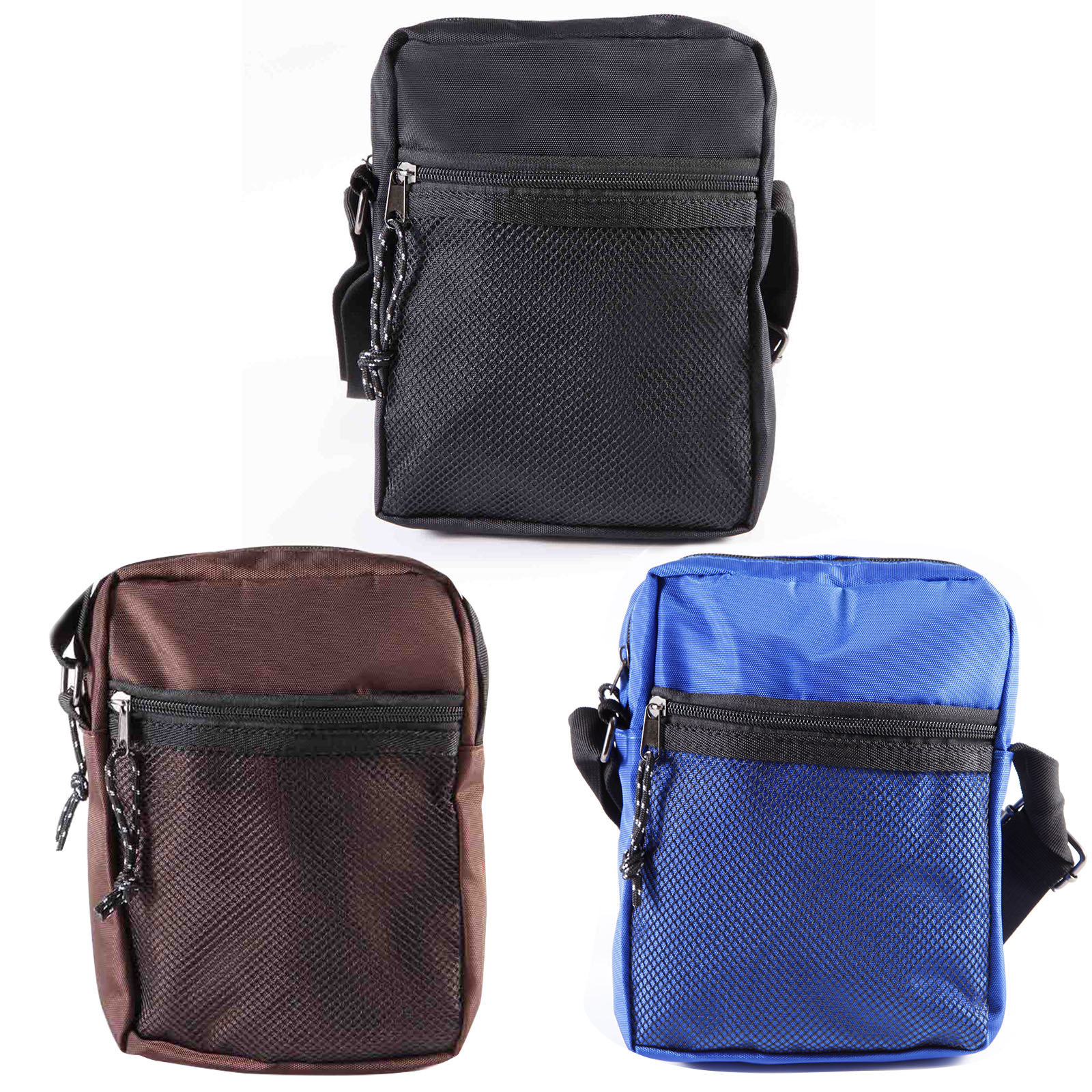 608eed036e81 Nylon Messenger Bags Casual Cross Body Shoulder Mesh Multi Pocket Handbag  Purse