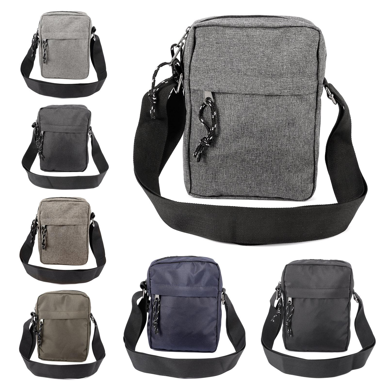 Details about Men's Shoulder Messenger Bag Weekender Crossbody Day Bag For Work Travel
