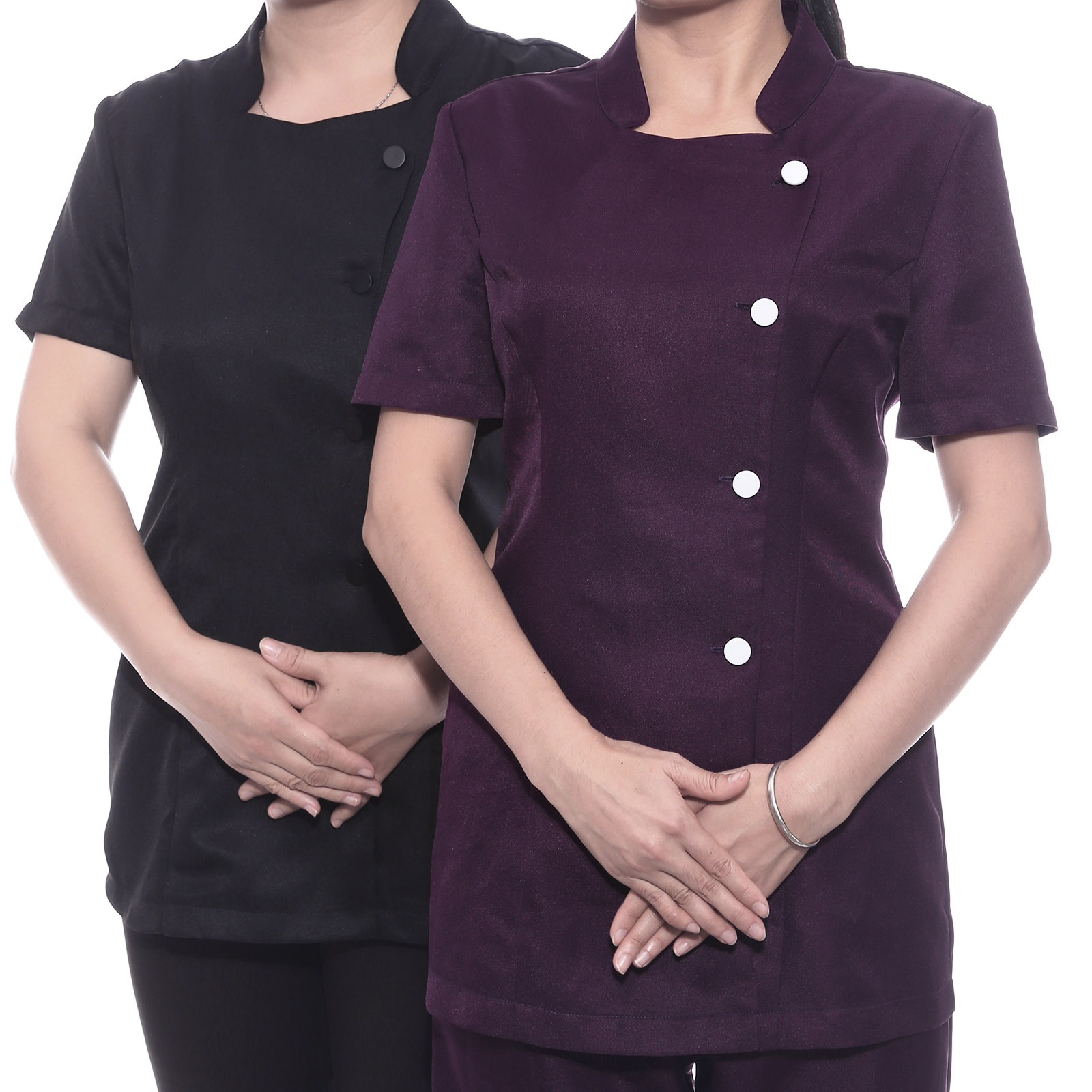 Hairdressing beauty tunic spa nail salon wear health work for Spa uniform cotton
