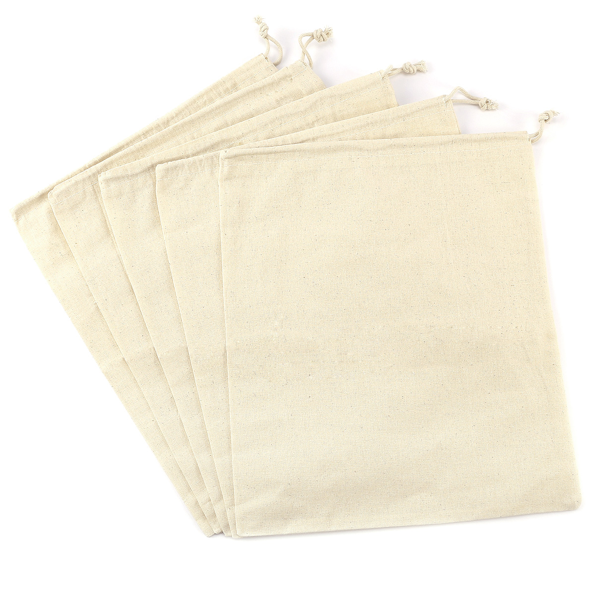 5x small drawstring cotton gift bags gifts jewellery multi sizes ebay - X laundry bags ...