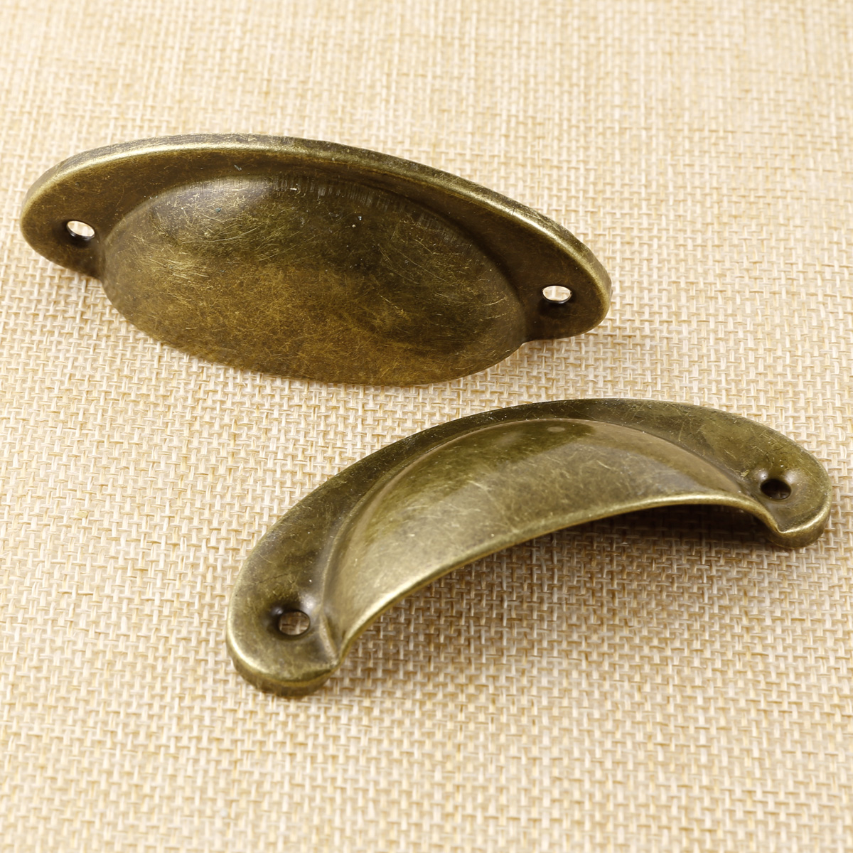 Solid brass CUP CUPPED SHELL DRAWER CUPBOARD CABINET DOOR PULL HANDLES