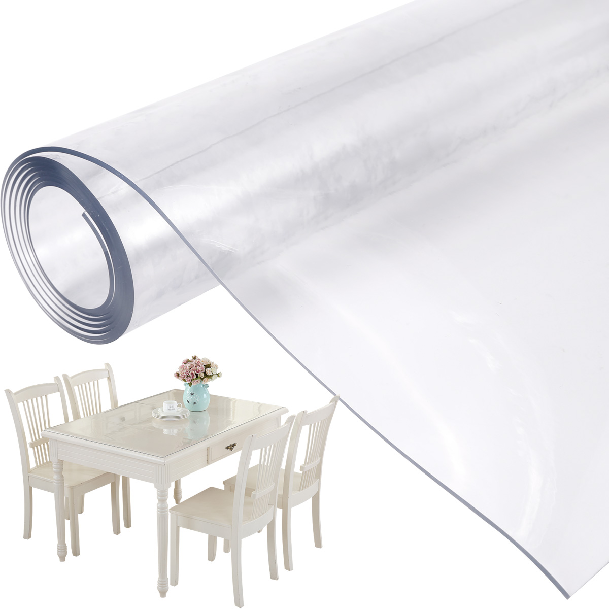 2mm Pvc Table Protector Table Cover Protector Transparent Width 160cm 90cm Ebay