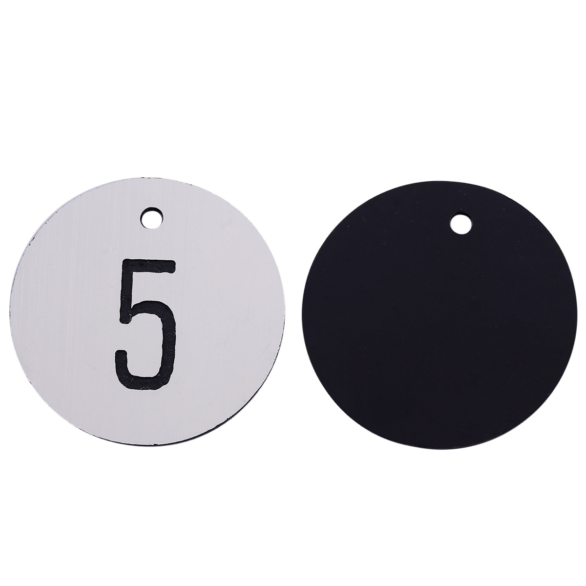 Engraved Aluminium Metal Faced Locker Numbers Discs Table Numbers Tags