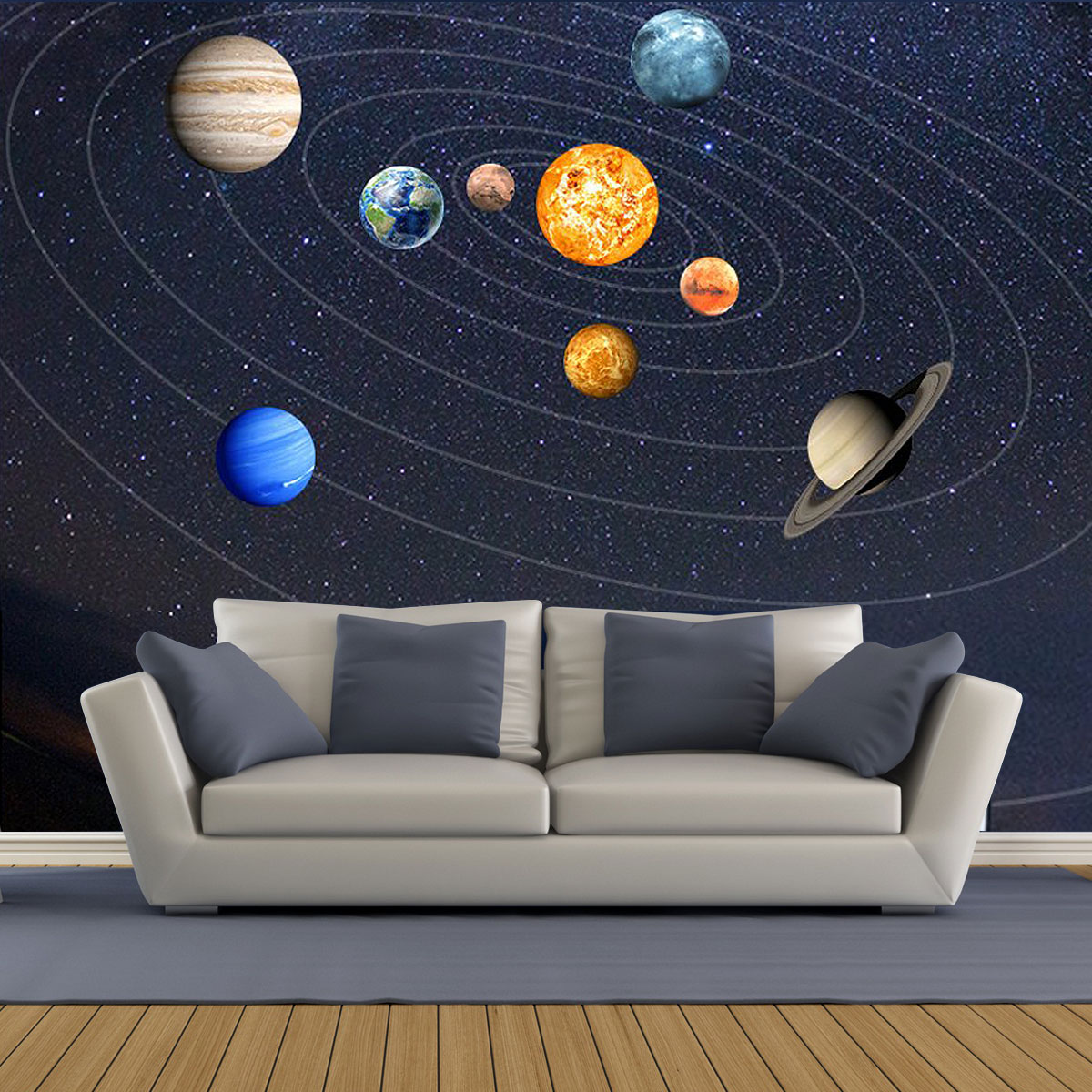 Home Furniture Diy Galaxy Planet Space Solar System Wall