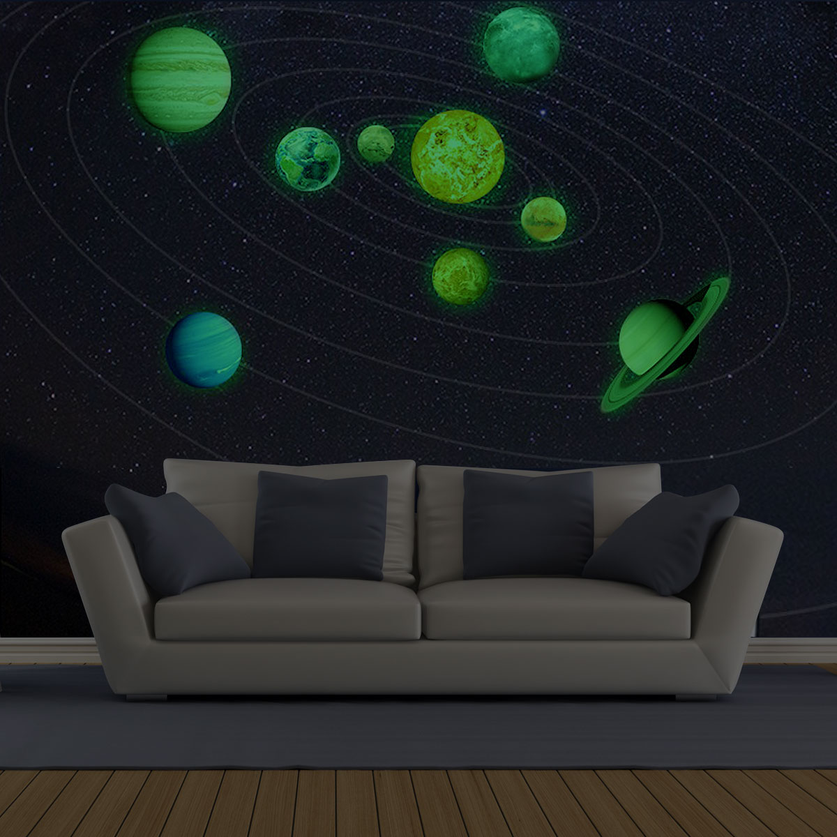 Details About Galaxy Planet Space Solar System Wall Stickers Art Baby Room Diy Decor Decal