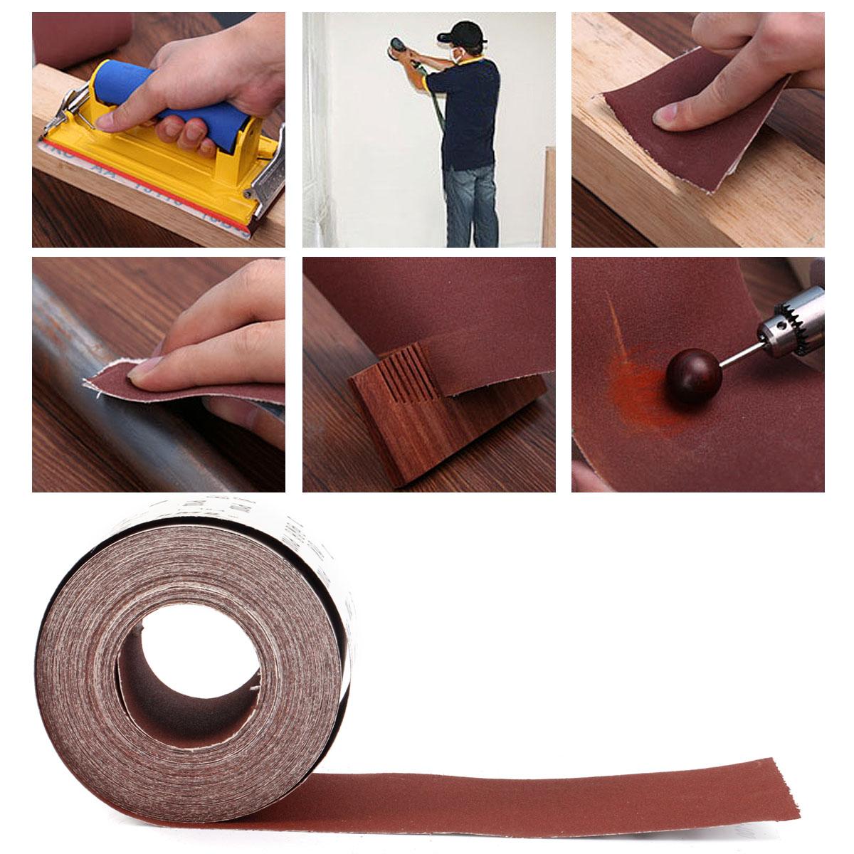 Hook /& Loop Sanding roll 115mm wide per metre grits 60,80,120,180,240,320
