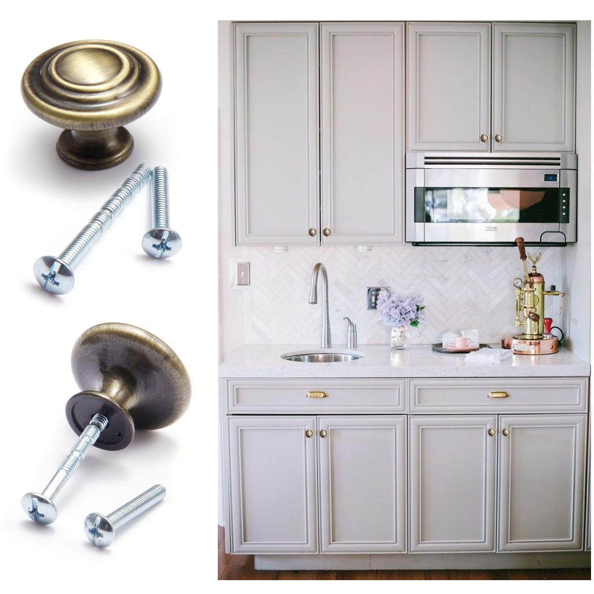2pcs Mushroom Bi Fold Kitchen Cabinet Door Knob Drawer Handle Wardrobe Pull 33mm Ebay