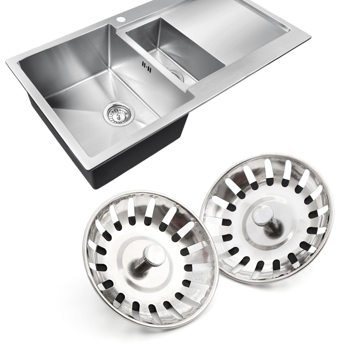 how to clean stainless steel sink plugs