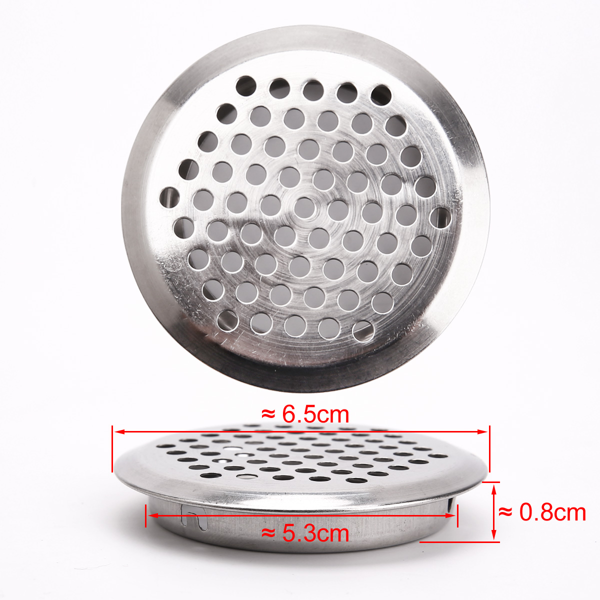 20PCS Circular Furniture Cabinet Air Vent Grille Small Cover Ventilation