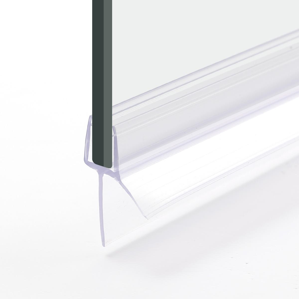 2x bath shower screen door seal strips 68mm glass door 13mm gap flat curved