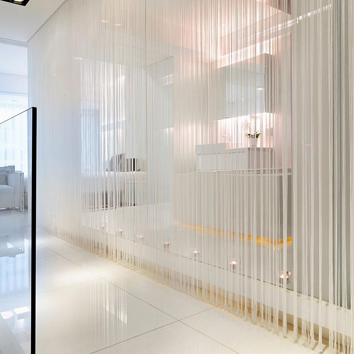 UK Curtain Glitter String Panels Tassel Fly Screen Room Divider