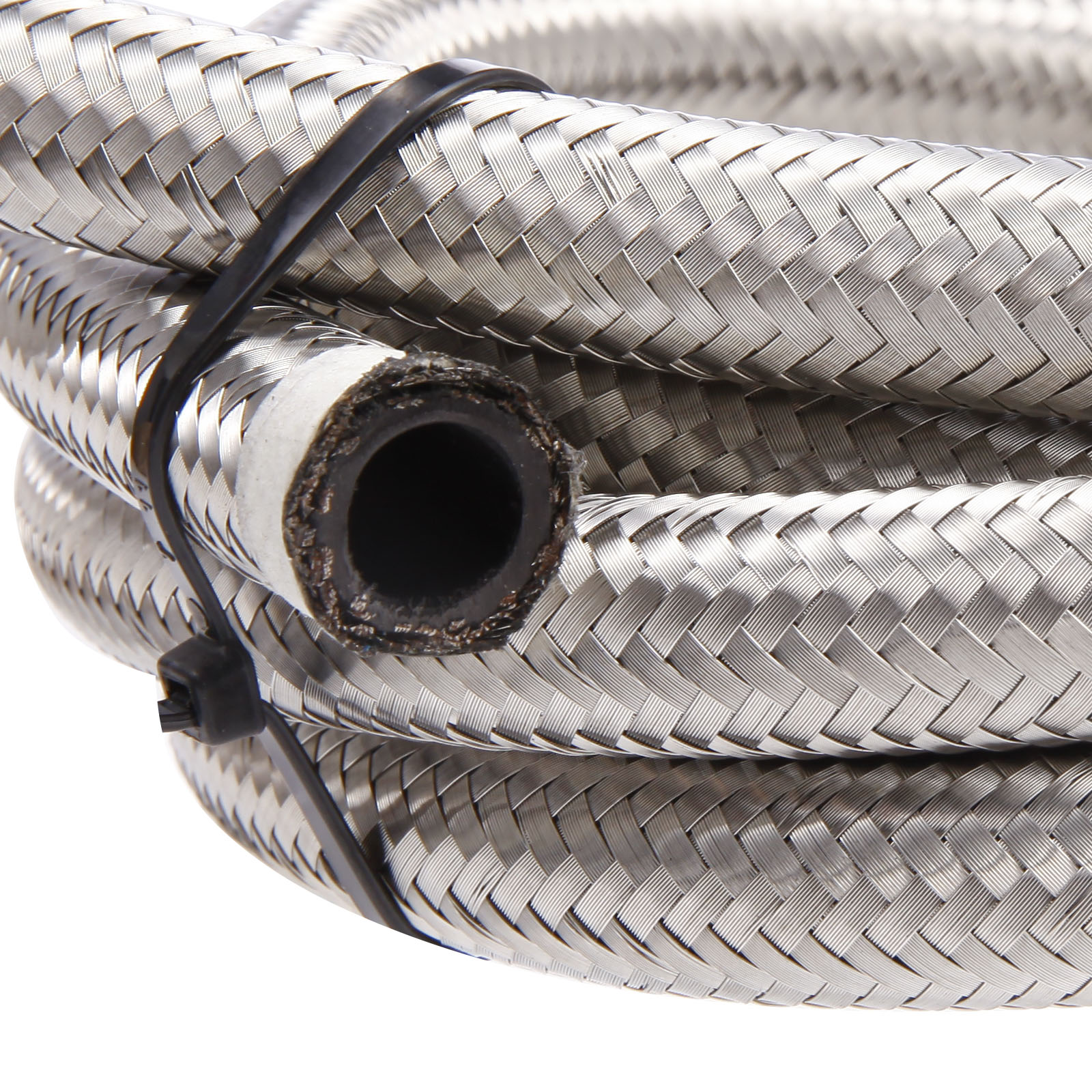 10 Stainless Steel Flexible Braided Fuel Line Hose Petrol Tube 2 Meter Remote Oil Cooler SurePromise AN
