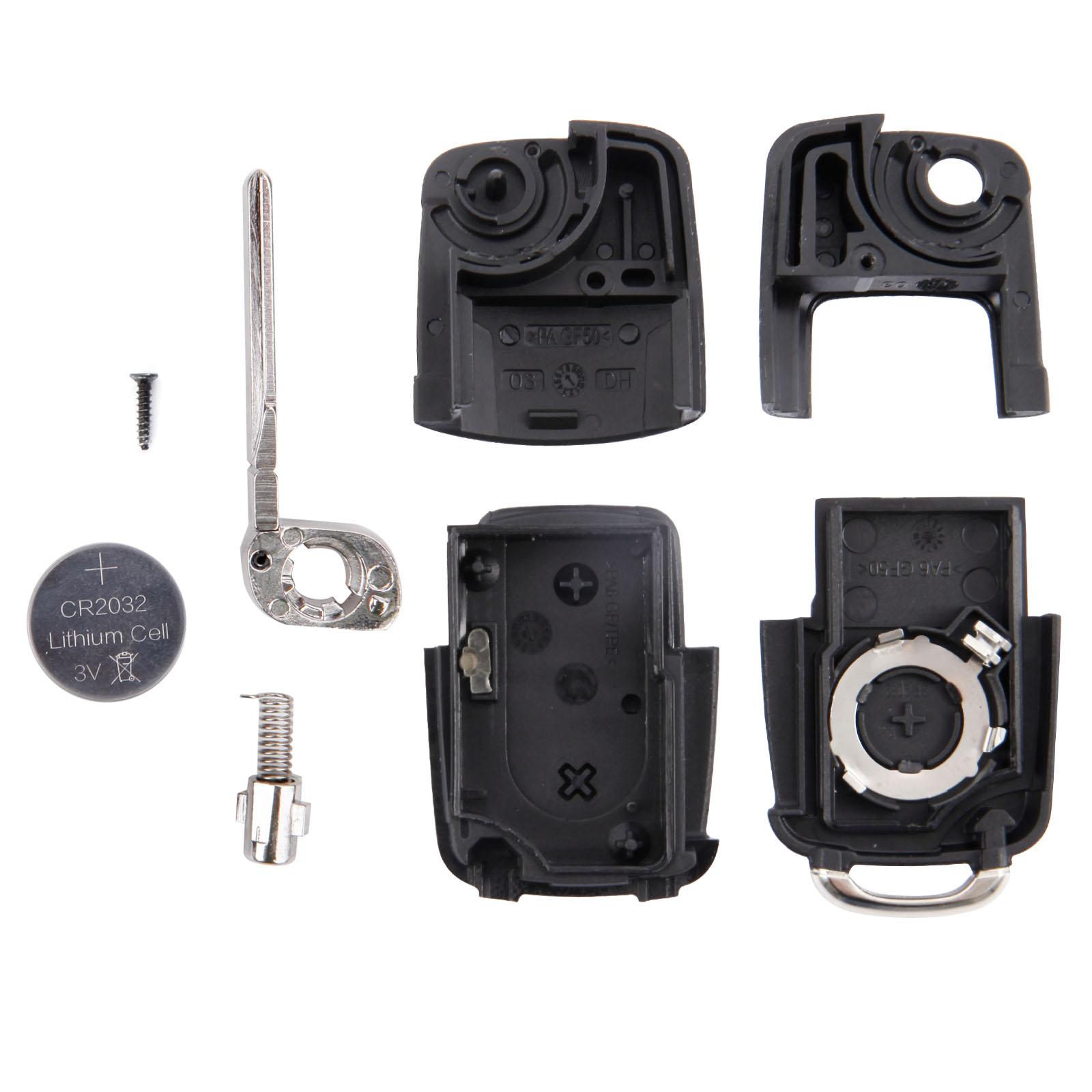 FOR VW Golf Bora Polo Passat Replace 2-Button Flip Key Fob