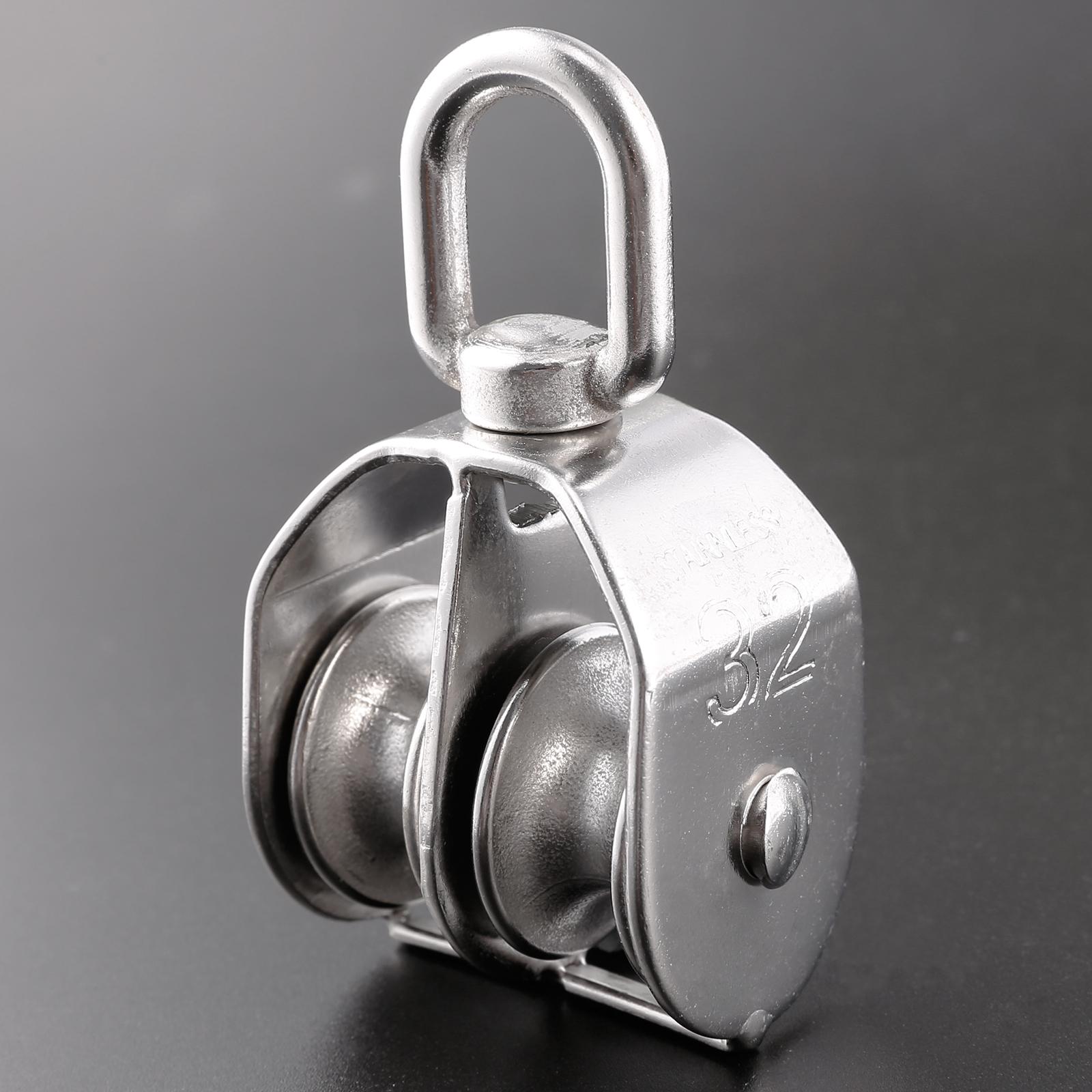 304 Stainless Steel Single Double Wheel Swivel Pulley Block Various ...