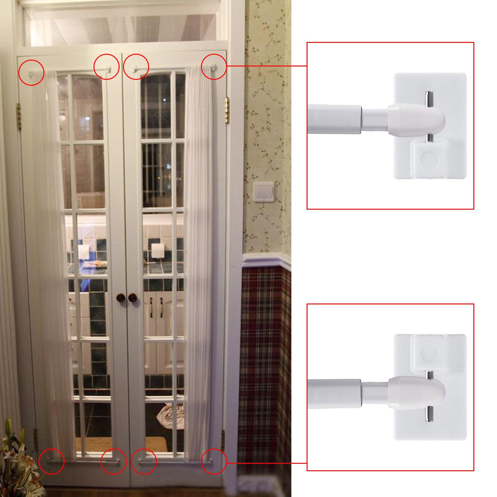 30 X White Self Adhesive Curtain Rod End Sticky Upvc