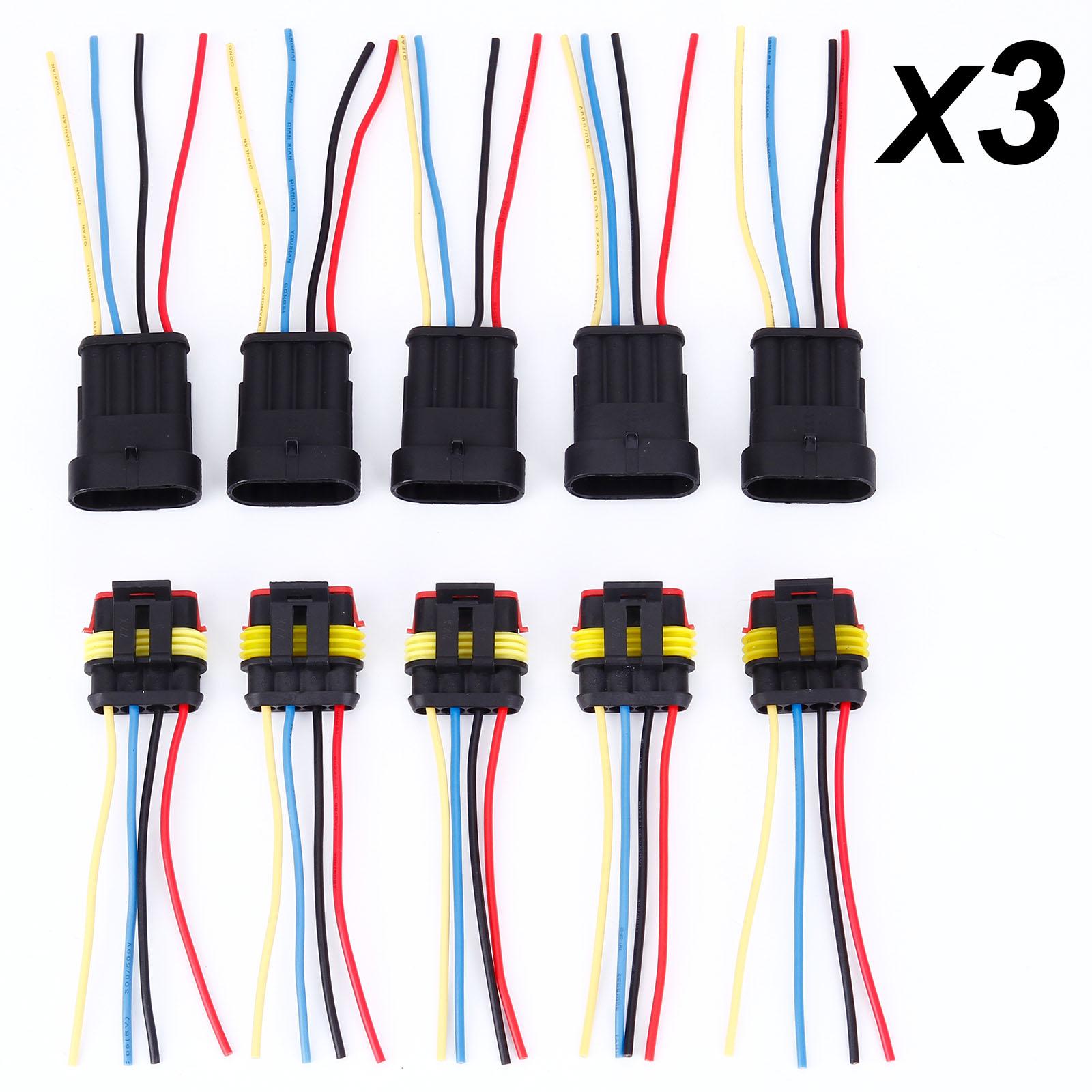 10-30pcs 2/3/4 Pin Way Car Super Seal Waterproof Electrical Wire ...