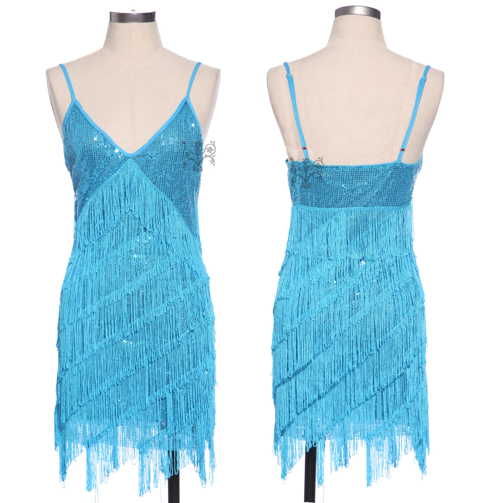 New 1920s Vintage Flapper Girl Sequin Fringed Cocktail Party Dress ...