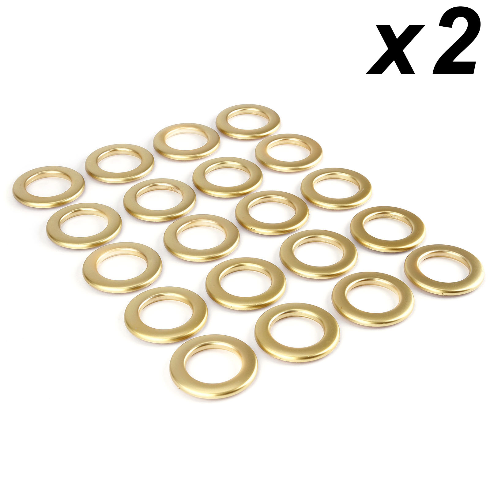 42mm Curtain Grommets Eyelets Roman Rings Home Decor Coffee Color 16pcs