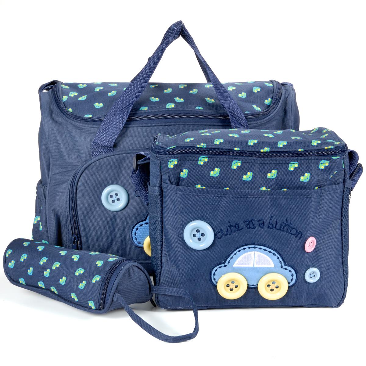 c623530c4 Set 4 kits Bolsa/Bolsillo/Bolso Maternal Azul oscuro biberón carro carrito  para Bebé