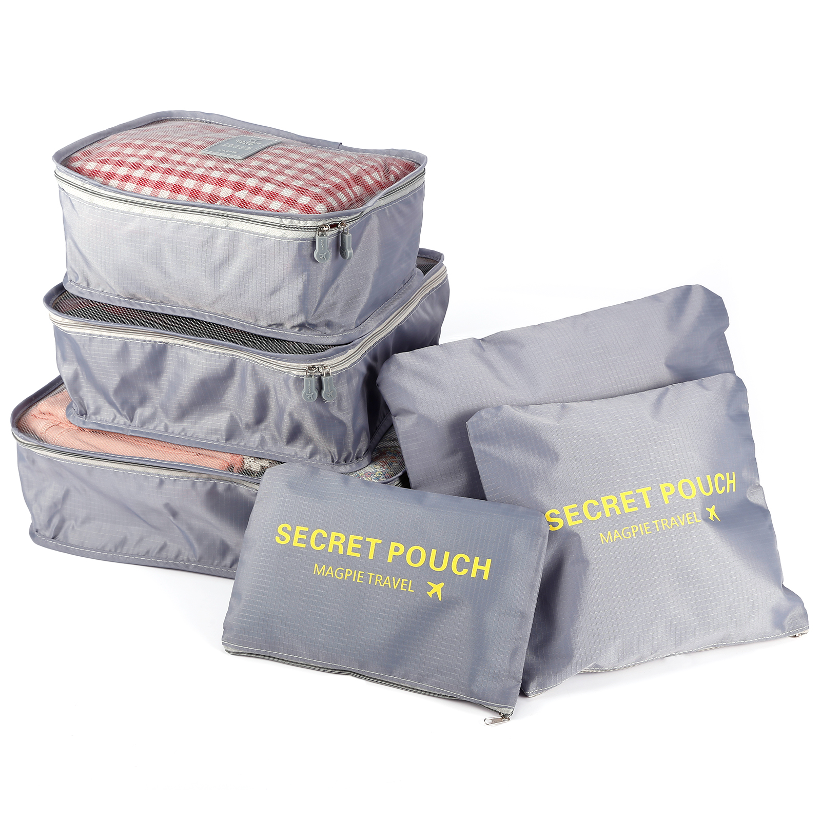 6x packing cubes travel organizers travel storage laundry. Black Bedroom Furniture Sets. Home Design Ideas