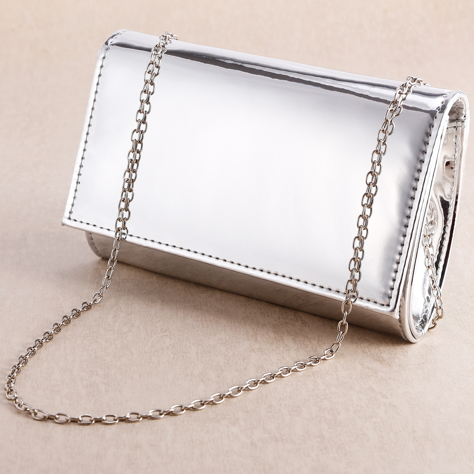 94c69b6f67f Women's Small Envelope Metallic Effect Prom Party Handbag Clutch Bag ...